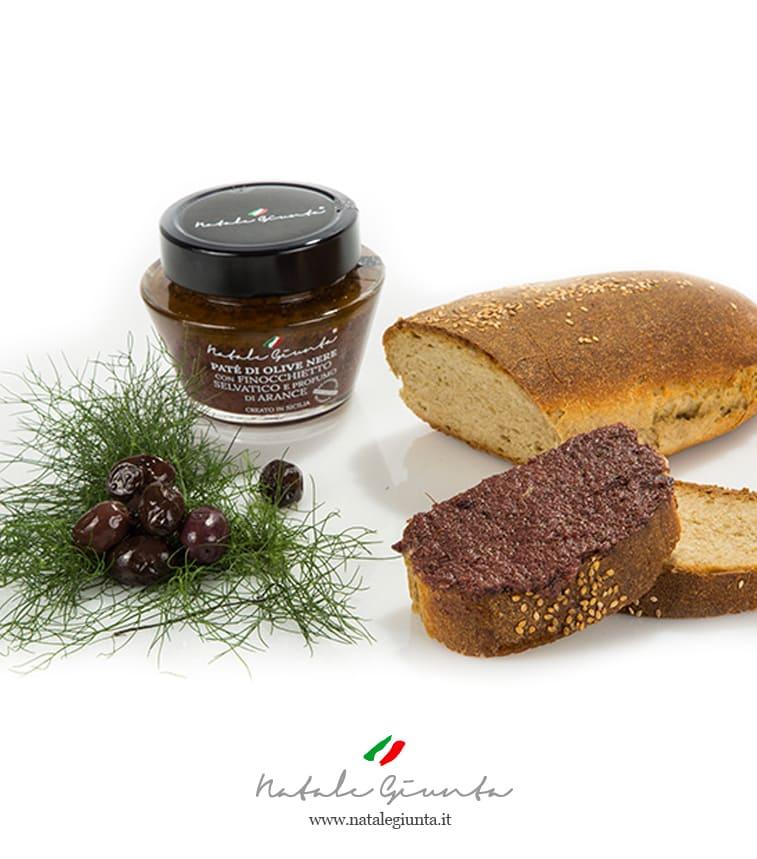 Patè di olive nere con finocchietto